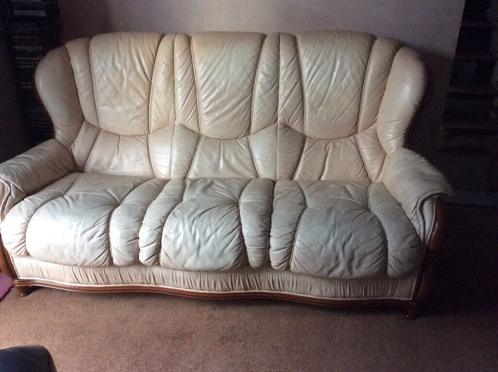 Leather Suite - good condition - FREE