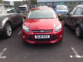 Candy Red 61 plate Ford Focus Zetec 1.6
