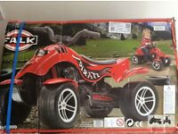 Falk Pedal Ride-On Quad Bike Pirate Red suitable for 3-5 year olds Children Kids