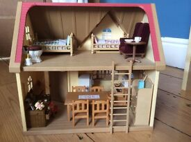 Sylvanian Cottage with contents