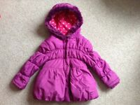 Girls Age 2-3 Pink Padded Winter Coat (Excellent Condition!)
