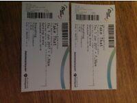 Take that standing tickets x 2 1st June Birmingham