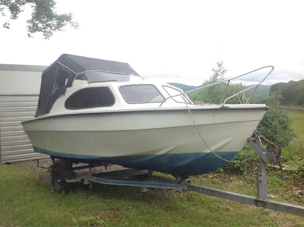 16 foot marina boat for sale or swap w h y in for 16 foot aluminum boat motor size