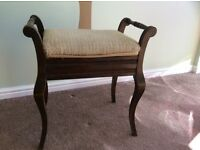 Piano Stool - for sale - with storage compartment