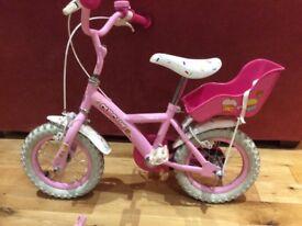 "12"" Apollo Cupcake girl's bike plus helmet"