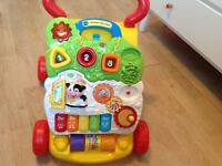 V tech activity baby walker in multi colour