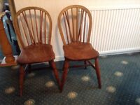 Nice kitchen chairs . Solid wood. Looked after for a few years.