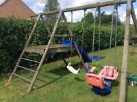 TP Sherwood double and deck swing set
