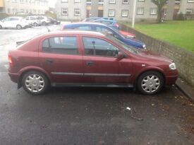 Opel Astra with one week OF MOT left