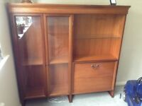 Mid century Wall mounted teak furniture