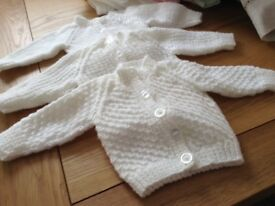 Hand knitted brand new baby cardigans