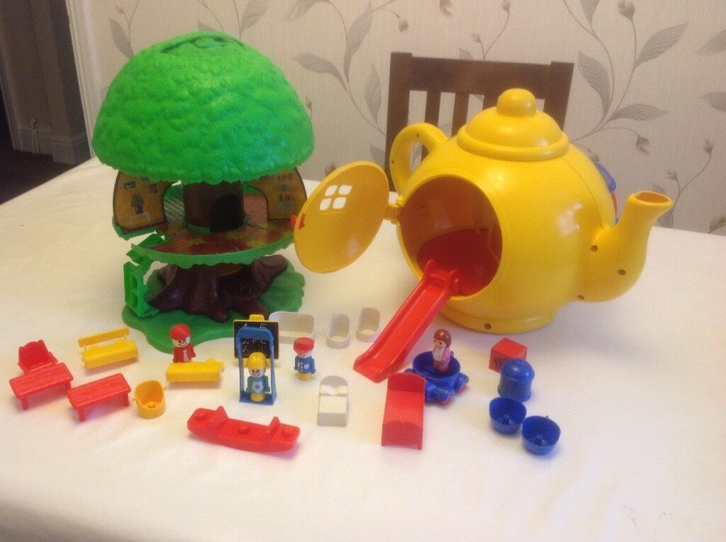 Children's Big Yellow Teapot and TreeHouse toys