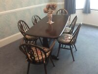 Ercol Old Colonial Table and chairs for sale