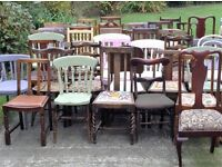 Wedding or event mismatch vintage chair, table, furniture and crockery and props hire and mobile bar