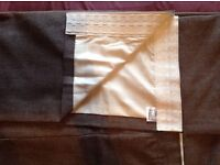 NEXT textured weave, French grey made to measure curtains (brand new).
