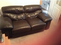 Leather two sweater couch