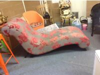 Chaise Longue and foot stall,bought to up cycle ,never got round to it,collection bootle