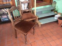 4 dining room chairs in reasonable condition, could do with update