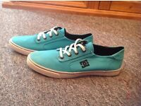 Size 7 Turquoise DC Trainers. Excellent condition.