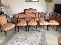 Victorian sofa and chairs, gorgeous set, circa 1860