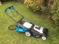 MAC ALLISTER 1800 420 MM CORDED ROTARY LAWNMOWER used once last summer, assembled rrp £165 accept 85