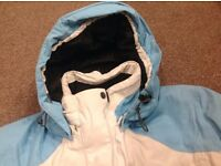Ladies Ski Jacket size 16/18 in blue & cream EXCELLENT CONDITION - ICE TEC/ICEPEAK breathable