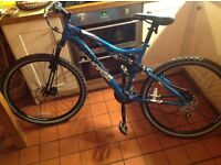 Full suspension adults mountain bike
