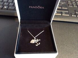 Pandora necklace and charm