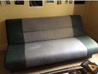 Blue sofa bed - very comfy