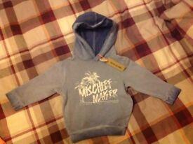 River Island baby boys hoodie BRAND NEW