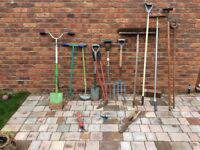 Assorted garden tools