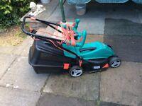 Bosch electric lawnmower, vgc