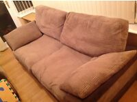 3 seater and 2 seater fabric sofa £75