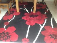 Large rug black and red for lounge/dining room/ conservatory/ hall