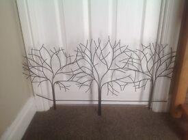 Metal wall art- small metal tree wall art
