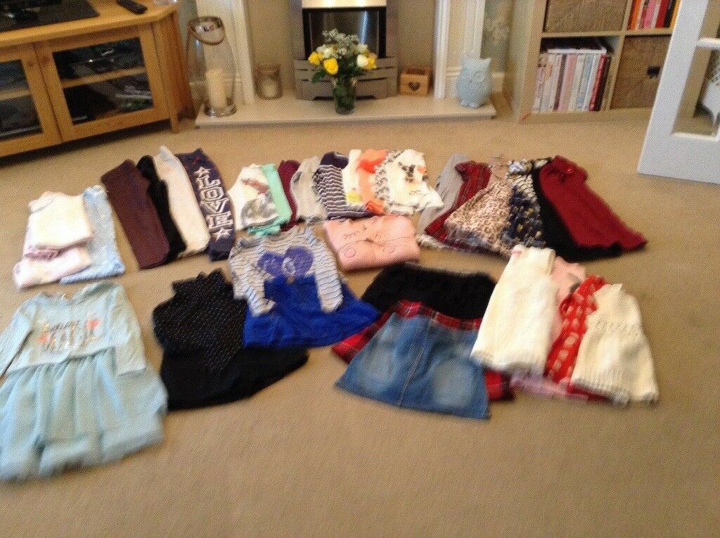 Large bundle of girls clothes age 7-8