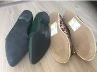 Ladies Flat Shoes two pairs