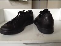 Stan smith black trainers size 8