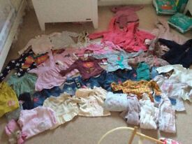 Girls age 9 -12 month clothing bundle mostly from next