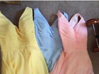 Brand new bridesmaid dresses sizes 10, 14 & 16