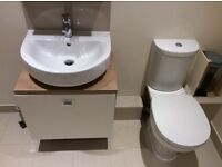 Ideal standard vanity unit, sink, toilet and cabinet
