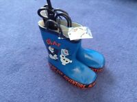 New boys olaf wellies wellington boots size infant 9