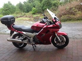 FJR1300 deep red metallic , 2002 , 19200 miles, pristine condition, extras £3850 Ono
