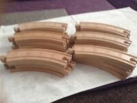 Wooden Thomas curved track , straight track