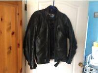Black leather motorcycle jacket medium