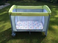 Travel cot from Mothercare range