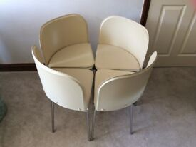4 Kitchen Leather Chairs