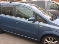 Vauxhall zafira diesel with leather interior