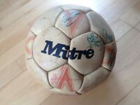 Wales v Holland signed ball 1989