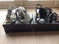 2 pairs Ladies evening shoes size 4